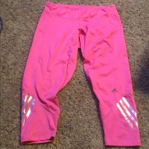 Like new ADIDAS Climalite pink workout crop Med